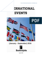 International Events 2016