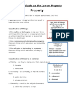 The Study Guide on the Law on Property