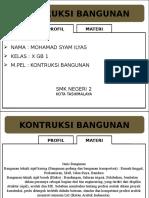 Kontruksi Bangunan (M Syam Ilyas)