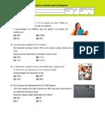 Resolução de Problemas Usando Percentagens