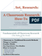 Ready Set Research a Classroom Research How To
