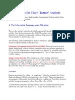 Lowenthal Methods for Cider Tannin
