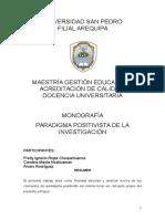 Monografía Paradigma Positivista de La Investigación.docx