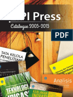 LIPI Press 2005-2015 Catalogue