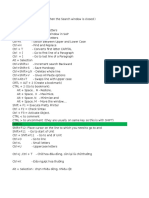 Shortcut in ABAP Editor
