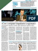 """""""Con i computer impariamo a ragionare"""" - Il Resto del Carlino del 12 gennaio 2017"""