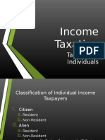 Income Taxation Individuals