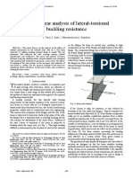 FE Nonlinear Analysis of Lateral-Torsional Buckling Resistance