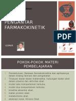01 Pengantar Farmakokinetik Tgl 24-9-2016
