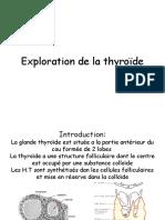 Exploration de La Thyroide