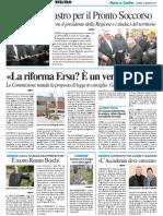 """""""La riforma Ersu è un vero disastro"""" - Il Resto del Carlino del 12 gennaio 2017"""