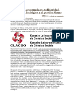 CLACSO Se Pronuncia en Solidaridad Con Acción Ecológica y El Pueblo