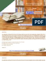 Microsoft 70-462 Real Exam PDF Files