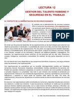 Lectura 12 - Gestion Del Talento y Seguridad en El Trabajo