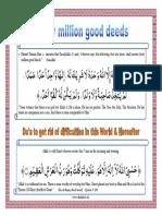 Forty Million Good Deeds