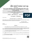 Motor Traffic (Motor Tricycle) Regulations, No. 01 of 2017