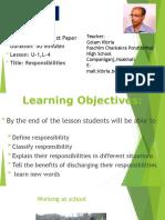 English First Paper,Class Nine,U-1,L-4(Responsibility)