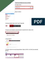 Instruções Para Registro de Curso No Achieve - Portugues