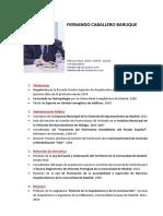CV Fernando Caballero Baruque 2017