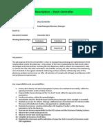 Job Description Stock Controller