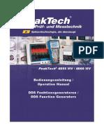PeakTech 4055MV 4060MV Gerstenstieg