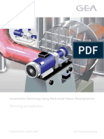 GEA Evaporation Technology Using Mechanical Vapour Recompression Brochure en Tcm11 22946
