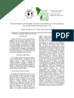 Transformações Na Paisagem. Erosão e Ravinamento No Sítio Geológico Buraco Do Padre - Ponta Grossa - PR