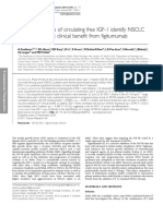 Pre-treatment levels of circulating free IGF-1 identify NSCLC patients who derive clinical benefit from figitumumab