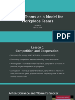 Sports Team as a Model for Workplace Team
