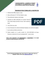 Requisitos de Ingreso _Para Inscripción