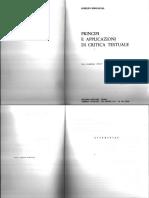 Aurelio Roncaglia - Principi e Applicazioni Di Critica Testuale