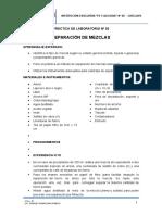 Practica 01-Separacion Mezclas