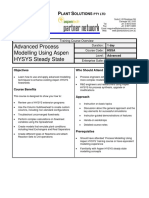 Process Modelling Using HYSYS Steady State Advanced 2007