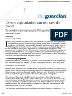 10 ways vegetarianism can help save the planet | Life and style | The Guardian