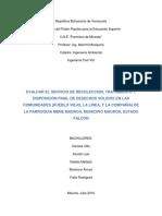 Trabajo Ambiental (Pueblo Viejo, La Linea, La Compañia)