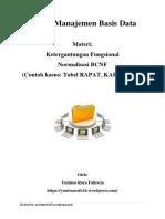 SMBD_Ketergantungan Fungsional Dan Normalisasi BCNF (Tabel RAPAT_KARYAWAN)_Yunissa Rara Fahreza