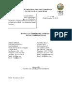 Pg&e's Initial Compliance Plan 12-16-16