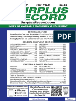 FEBRUARY 2017 Surplus Record Machinery & Equipment Directory