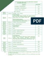 Revised Timetable - ICSE 2017