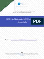 Mathematics 2009 Unsolved Paper Outside Delhi.pdf