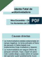 Accidente Fatal de Motoniveladora-1