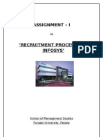 Selection and recruitment Process at Infosys