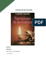 Narraciones de Un Exorcista - Gabriele Amorth
