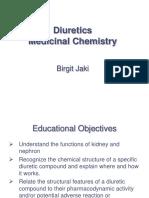 Week 2 Diuretics Chemistry