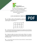 2ª Lista de Análise Combinatória_Permutações