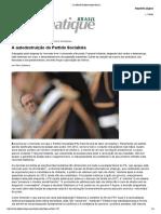A autodestruição do Partido Socialista (francês)__ Le Monde Diplomatique Brasil __