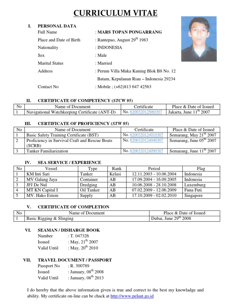 adoringacklesus - Resume Sample Format For Seaman