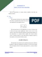 [Experiment 4] BJT - Common Collector Amplifier.pdf