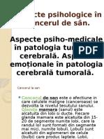 Aspecte Psihologice În Cancerul de Sân