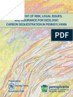 Risk Assessment for Geologic Carbon Sequestration in PA